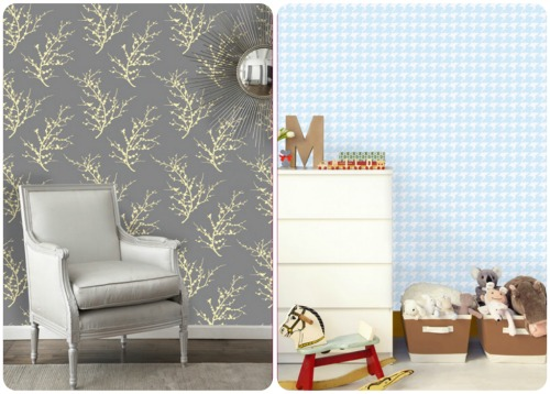 Accenting Walls With Temporary Wallpaper And Fabric