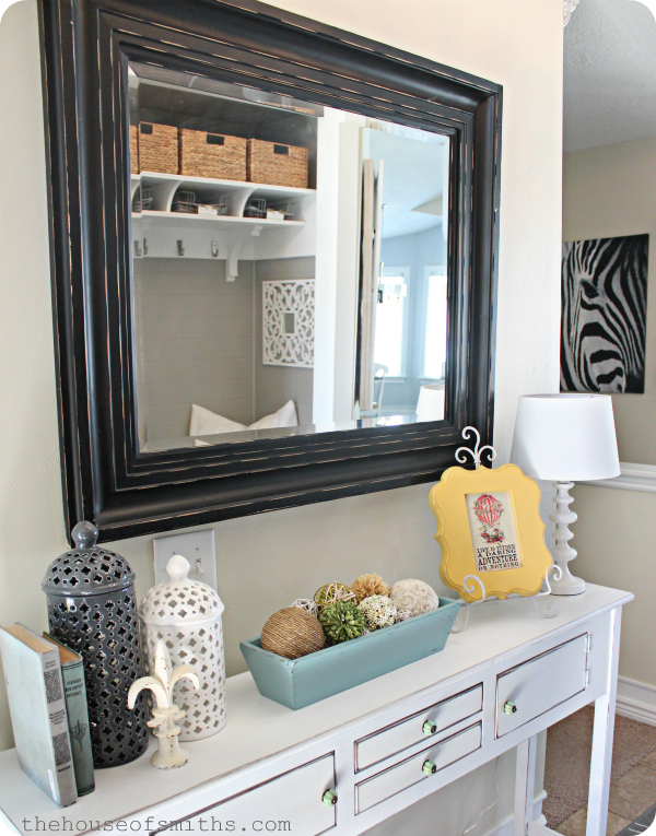 House of smiths home tour entryway Foyer console decorating ideas