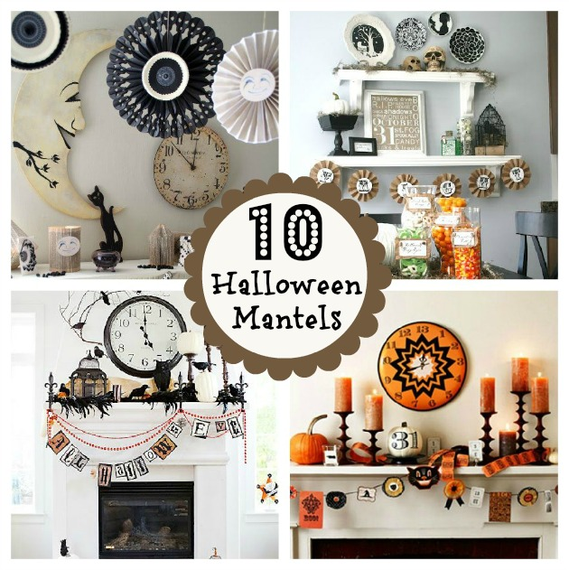 10 halloween mantels do it yourself decorating home. Black Bedroom Furniture Sets. Home Design Ideas