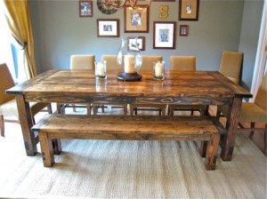 Rustic Dining Room Table 300x224