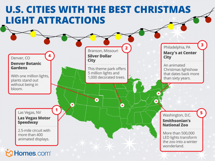 U.S. Cities with the Best Christmas Light Attractions | Homes.com