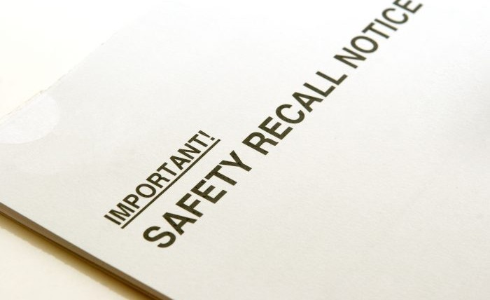 A safety recall notice mailer about defective product.