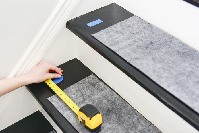 how to install a stair runner marking padding