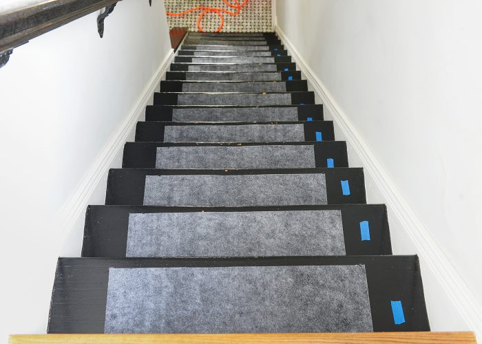 how to install a stair runner pads and stairs marked