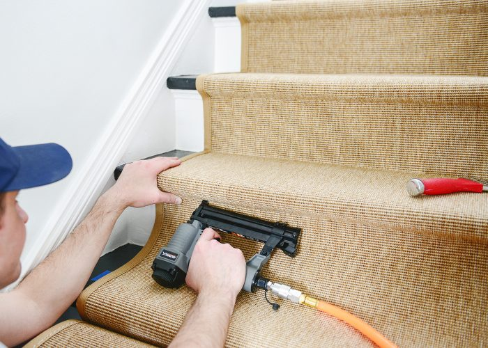 how to install a stair runner installing the sisal carpet
