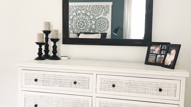 white coastal DIY dresser