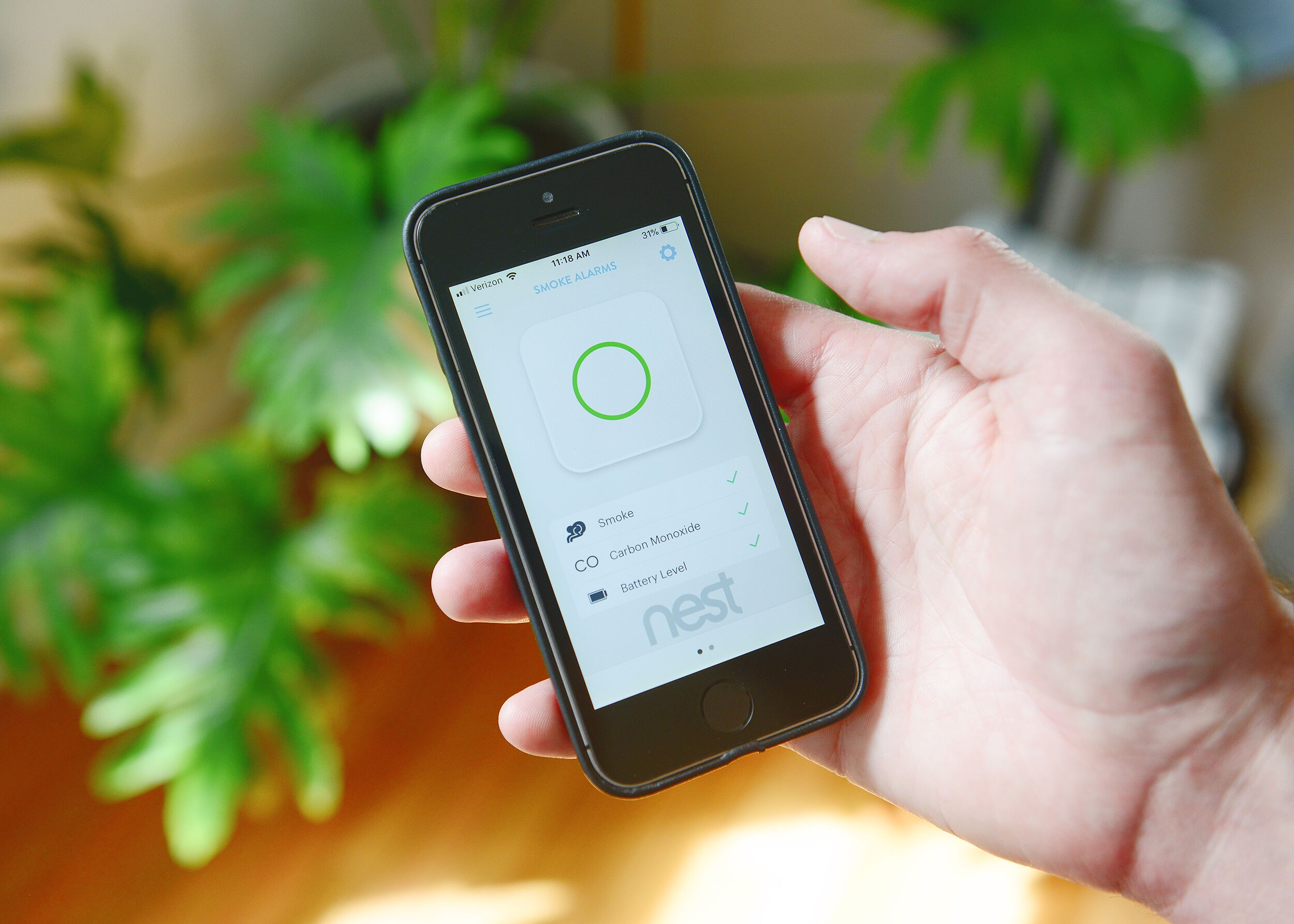 smart home device accessed through phone