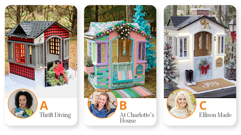 vote for your favorite remodeled Little Tikes cottage