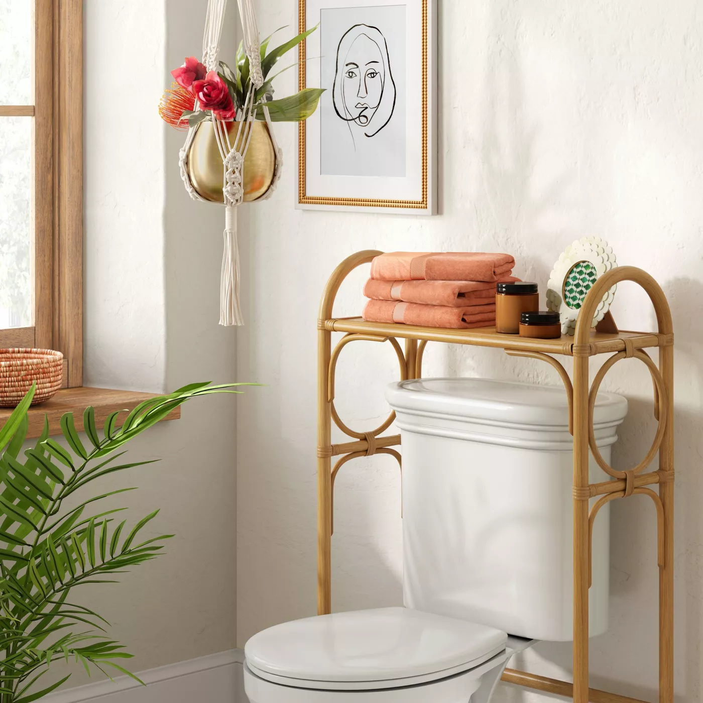 over the toilet storage for apartment