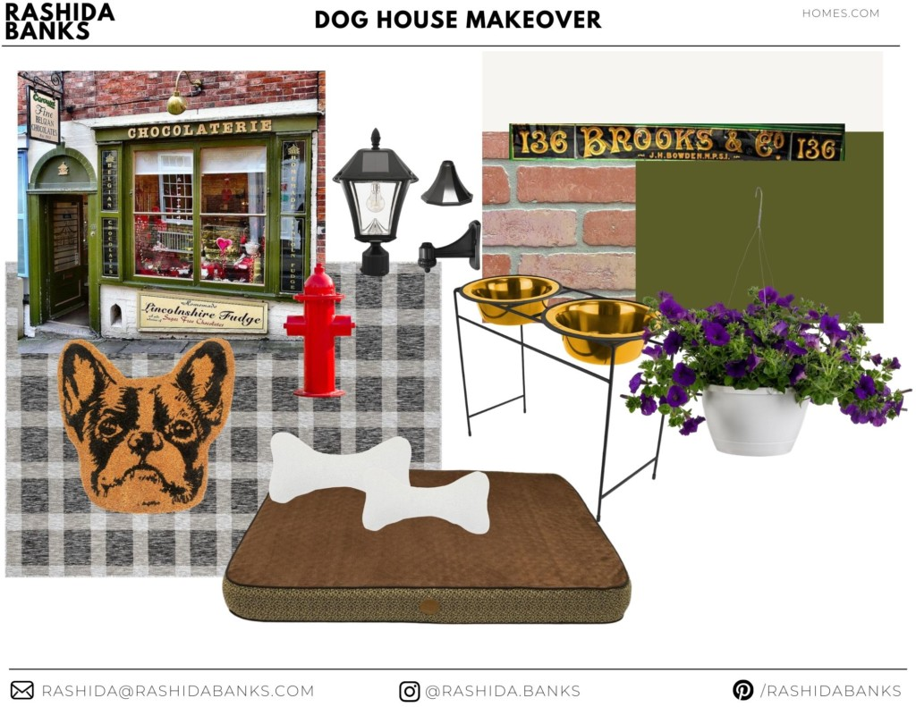 dog house mood board